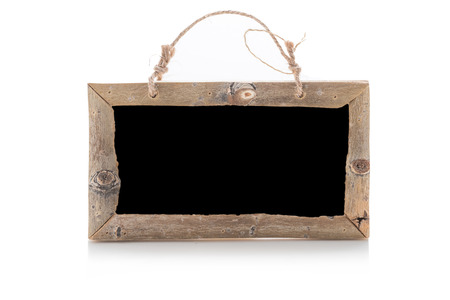 Old wood frame on isolated Imagens