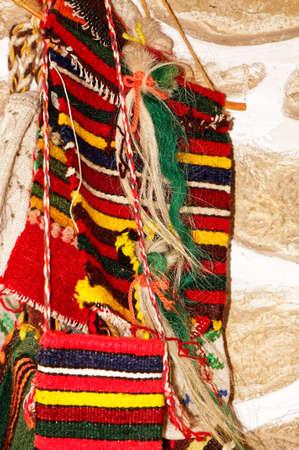 needlecraft product: Traditional Bulgarian Knitting Stock Photo