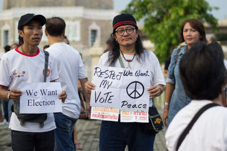 Anti coup in Thailand