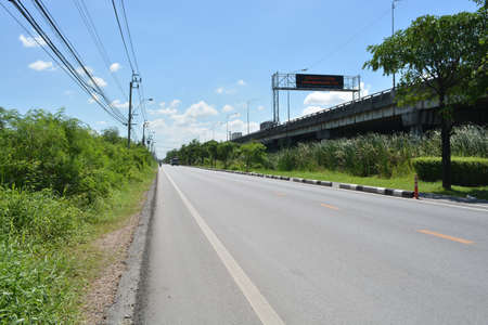 non marking: Country Highway in Bangkok, Thailand