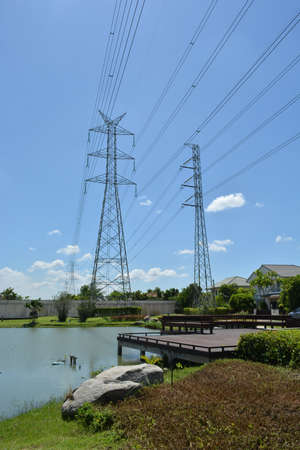 conduction: High voltage poles in Bangkok, Thailand
