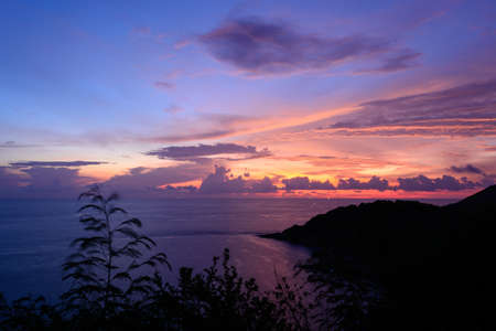 thep: Sunset at Laem Phrom Thep Phuket South of thailand Stock Photo