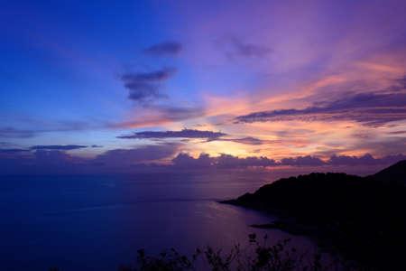 thep: Sunset at Laem Phrom Thep, Phuket, South of thailand Stock Photo