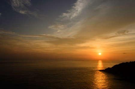 phrom: Sunset at Laem Phrom Thep, Phuket, South of thailand Stock Photo