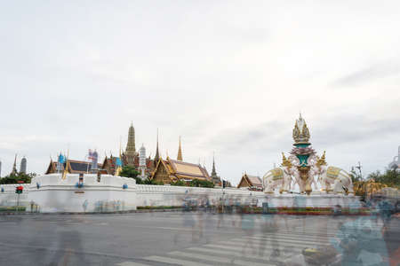 the emerald city: Wat Phra Kaew, Temple of the Emerald Buddha in Bangkok, Thailand