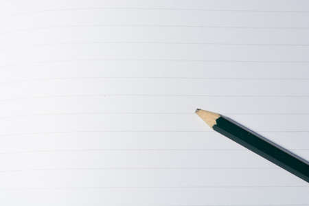 lined paper: Lined paper with pencil
