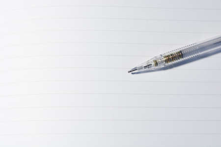 lined: Lined paper with pencil