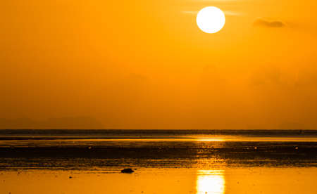 Sunrise scene in the sea Stock Photo