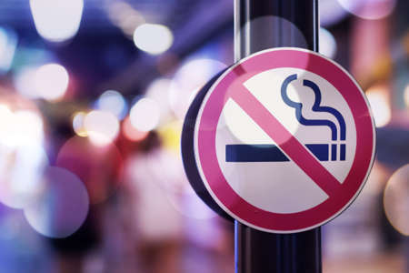 Don't smoke sign with bokeh background
