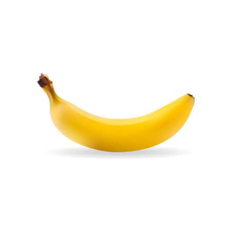 eatable: Vector banana isolated on white background