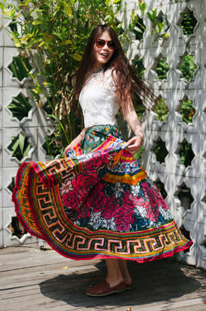 maxi: Swaying colorful maxi Stock Photo
