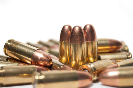 9mm: 9mm bullets Stock Photo