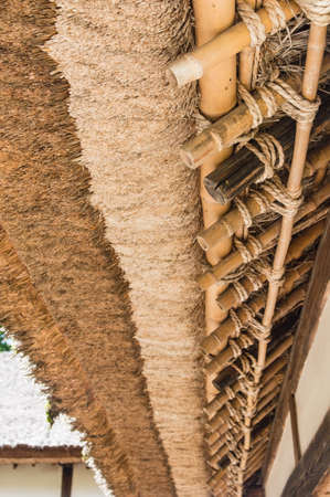 thatched roof: Detail of Japanese traditional thatched roof house