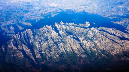 montserrat: View of Montserrat moutain top.