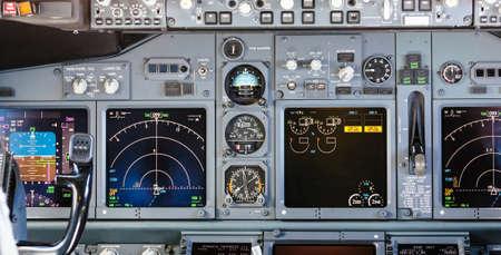 Aircraft Control Panel Stock Photo