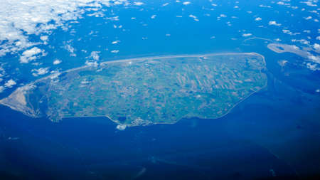 wadden: Texel viewed from above. Stock Photo