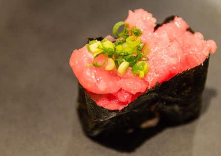 Japanese Cuisine - Minced Tuna Sushi Zdjęcie Seryjne
