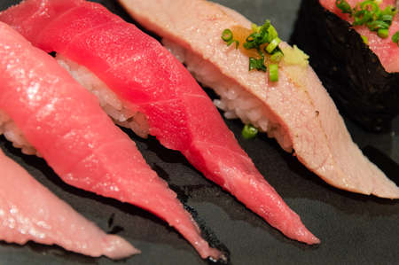 Assorted Tuna Sushi, Diferent types - Nigiri Maguro