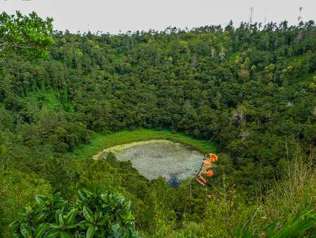 crater of volcano in Mauritius Foto de archivo