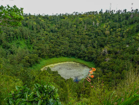 crater highlands: crater of volcano in Mauritius Stock Photo