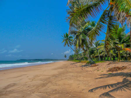 away from it all: Remote Tropical Beach, Ghana, Africa Stock Photo