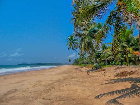 Remote Tropical Beach, Ghana, Africa Foto de archivo
