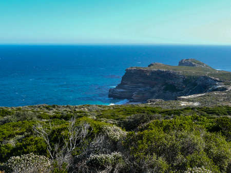 cape of good hope: The Cape of Good Hope as seen from Cape Point. Stock Photo