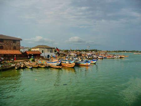 fishingboats: Moored Fishingboats in Ghana , Africa