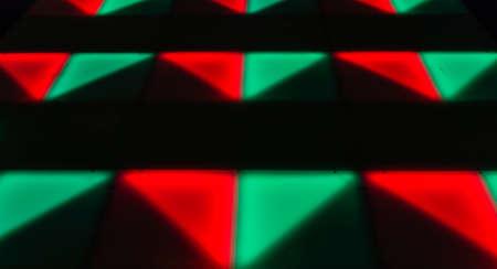 forme carre: �clairage color� de forme carr�e de danse disco