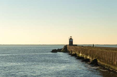 ijmuiden: Lighthouse in Ijmuiden, the Netherlands.