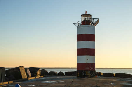 ijmuiden: Lighthouse at the end of the pier