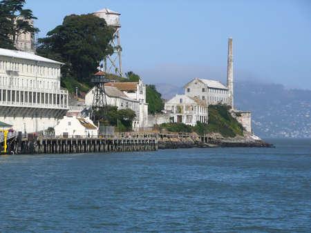 part prison: Part of Alcatraz Island Prison San Fransisco, California