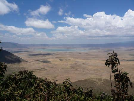big five: Ngorongoro Crater pi� grande caldera intatta del mondo s, ospita il big five Archivio Fotografico