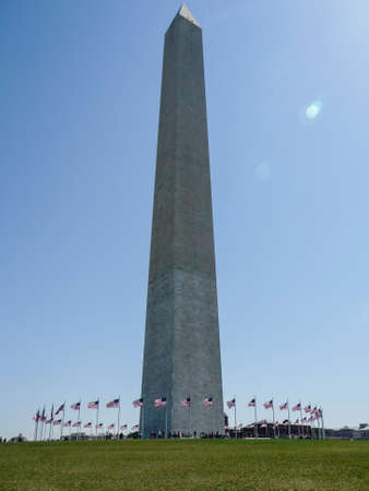 govt: The Washington Monument is a 555 feet obelisk built as a memorial to George Washington, 1st President of the United States. Construction began in 1848 but was only completed in 1884 after the US Govt. stepped in to provide the necessary funds to complete