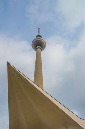 the TV tower (Fernsehturm) in Berlin