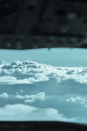 sop: cockpit view of an airplane