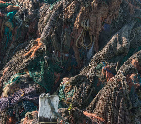 Heap of Fishing nets photo