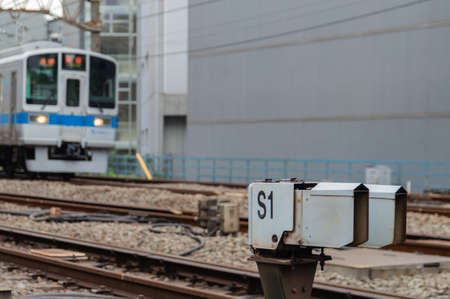 TOKYO, JAPAN - CIRCA JULY, 2014: JR Commutor trains are the main mode of transportation in Tokyo. JR is owned by the government of tokyo.