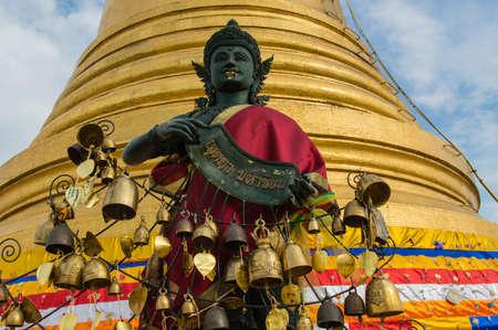 Golden pagoda Wat Saket (Golden Mount) in Bangkok,Thailand photo