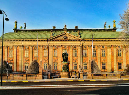 Drottningholm, the Swedish royal summer residence. Редакционное