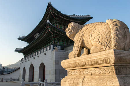 gung: Entrance Gate of Gyeongbok Palace, Seoul Korea