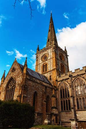 midlands: Shakespeares burial place holy trinity church stratford-upon-avon warwickshire the midlands england uk.
