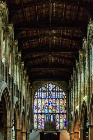 bard: Holy Trinity Church, Stratford - upon-Avon stained glass windows Editorial