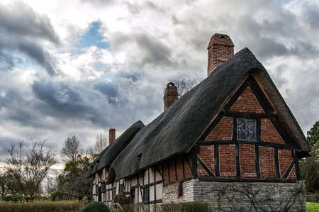hathaway: Anne Hathaways Cottage, the farmhouse where the wife of William Shakespeare lived as a child, is in the village of Shottery, Warwickshire, England, about 1 mile west of Stratford-upon-Avon.