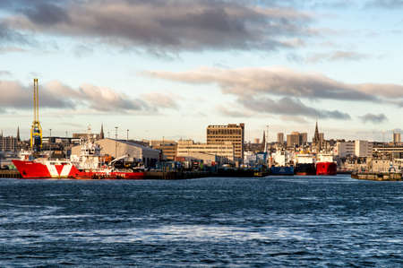 relocate: A view of Aberdeen harbour.