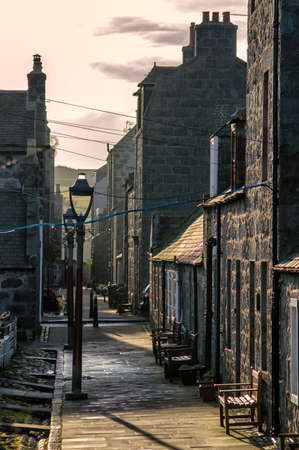 Footdee is an area of Aberdeen, Scotland known locally as \Fittie\. It is an old fishing village. photo