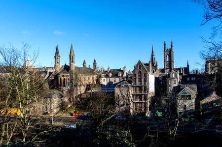 Rooftops of the city Aberdeen, Scotland Foto de archivo