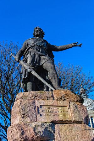wallace: William Wallace statue in Aberdeen,Scotland