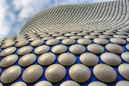 Exterior of shopping mall building, Birmingham, West Midlands