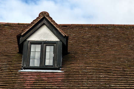 garret: Detail of Garret Roof in England Stock Photo